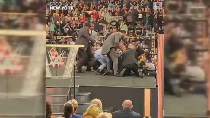 Bret hitman Hart attack: WWE legend tackled during hall of fame speech