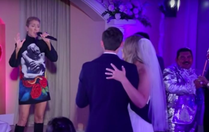 Celine Dion Crashes a Wedding Ceremony in Las Vegas (Watch)