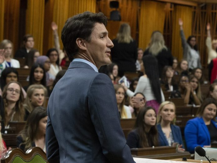 Daughters of the vote women turn backs on 'fake feminist' Justin Trudeau