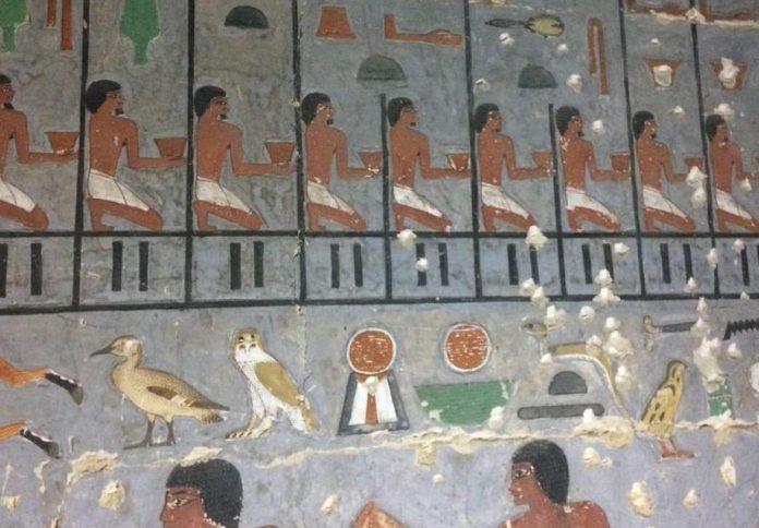 Noble tomb found at Saqqara, named Khuwy