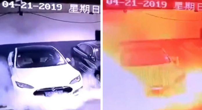 Tesla explosion In Shanghai: Model S fire video adds to Tesla woes pre-results