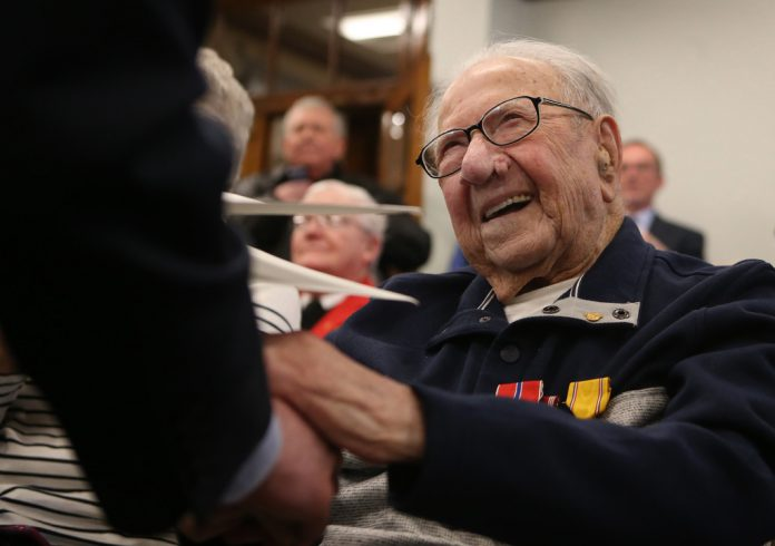 WWII veteran Peter Fantasia Receives Medals