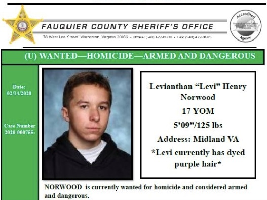 Levi Norwood shooting: Va. teen charged with killing mother