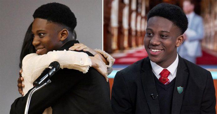 Aker Okoye addresse a handwritten apology for cuddling Meghan Markle