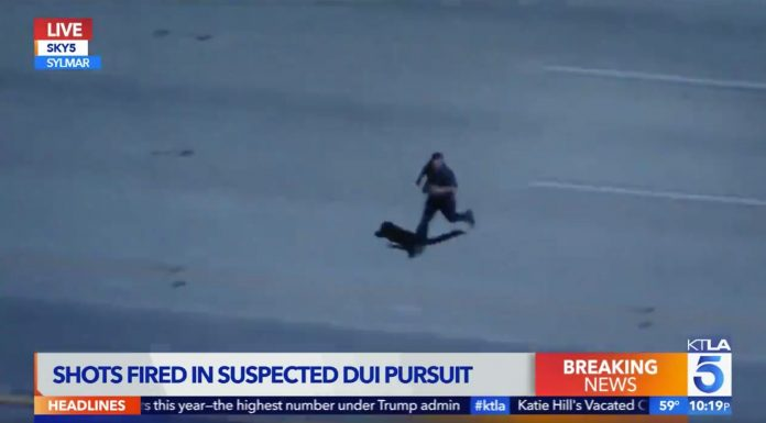 California freeway chase: 'This guy's gonna possibly get killed here'
