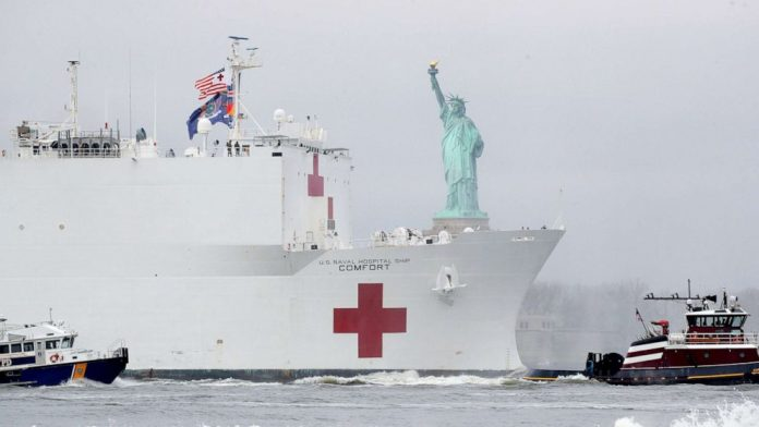 Coronavirus USA Update: USNS Comfort arrives in New York