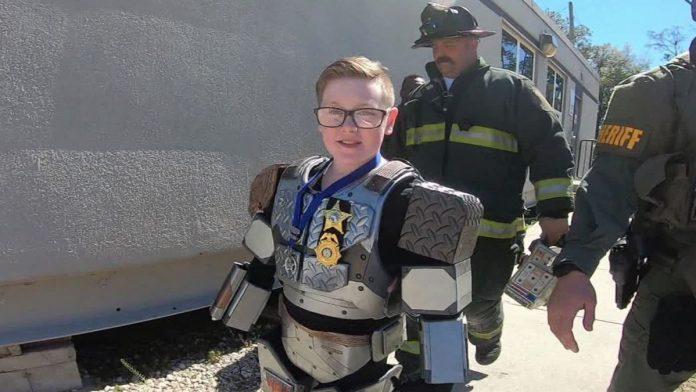 Make-A-Wish gives boy epic day as robot superhero (Watch)