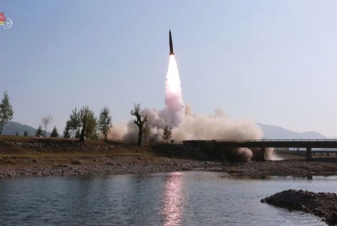 North Korea fires projectiles into the East Sea