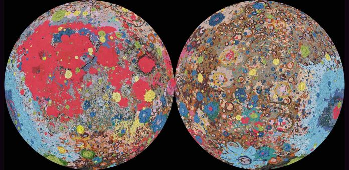 First-ever comprehensive geologic map of the moon, Researchers Say