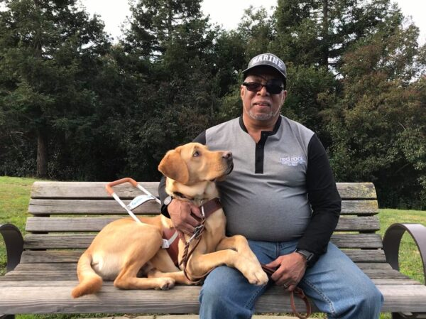 Barbara Borbeck takes care of veteran and his guide dog for weeks