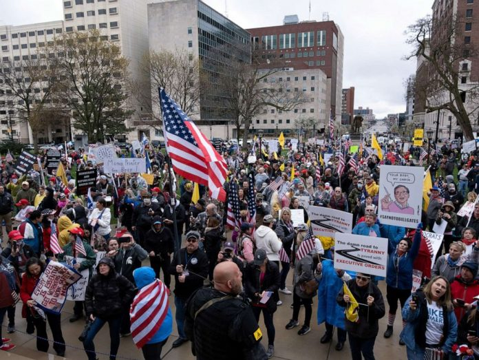 Coronavirus USA Updates: Michigan governor reacts to Lansing protests