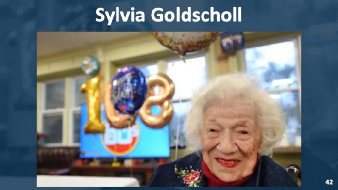 Sylvia Goldsholl 108-year-old New Jersey woman beats coronavirus