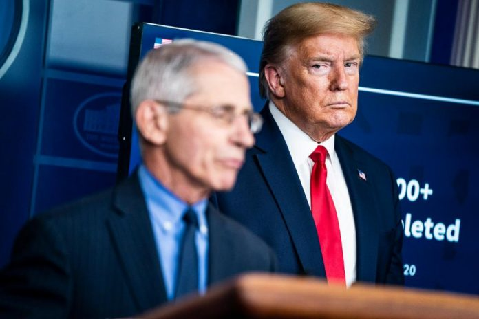Dr. Anthony Fauci says he hasn't briefed Trump in at least two months
