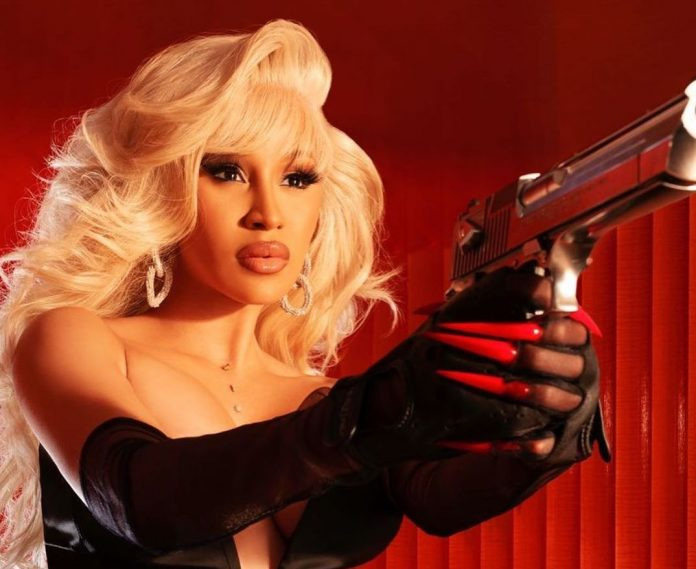 Cardi B Channels Pamela Anderson's Barb Wire in Fiery New Photo Shoot (Picture)