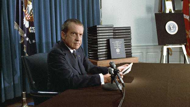 Richard Nixon's Resignation Speech, and What Happened Right After