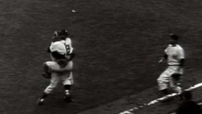 1956 WS Gm5: Don Larsen tosses a perfect game