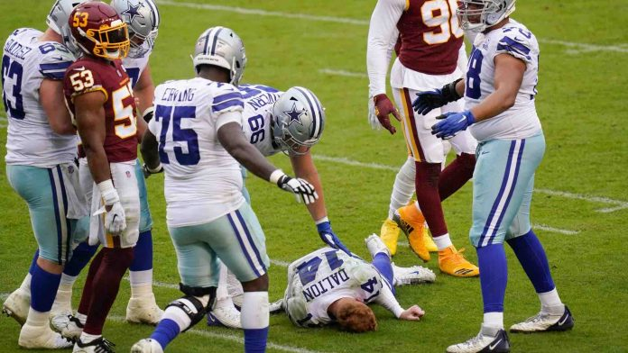 Dallas Cowboys lose to Washington after QB Andy Dalton knocked out of game with concussion from illegal hit, Report