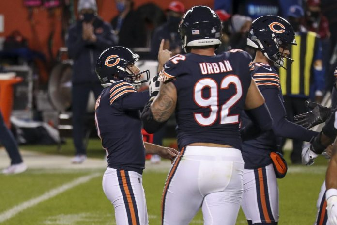Report: Chicago Bears rally to beat the Buccaneers 20-19 on Cairo Santos' 38-yard field goal with 1:13 left