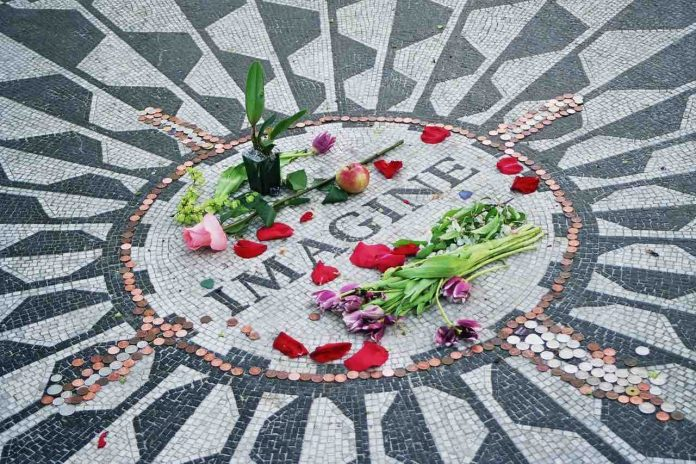 The Strawberry Fields memorial to the musician in New York's Central Park