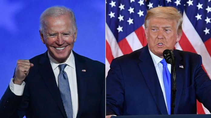 US election live updates results: Exit poll shows Biden gains in key groups, but with results awaiting the vote count