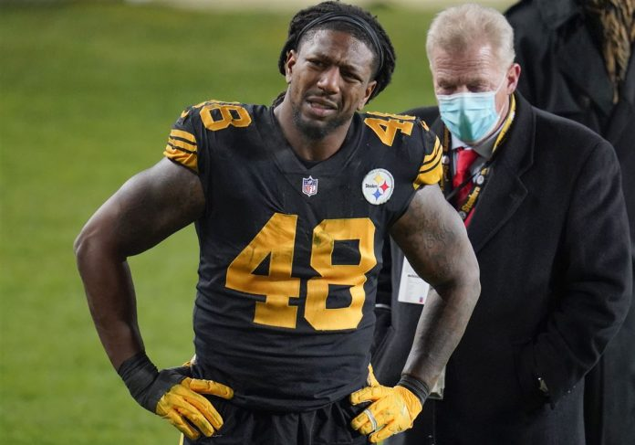 Report: Steelers LB Bud Dupree Leaves Game vs. Ravens with Knee Injury
