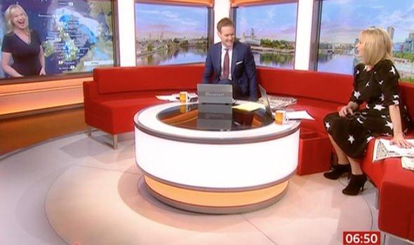 Carol Kirkwood red-faced after BBC Breakfast weather blunder