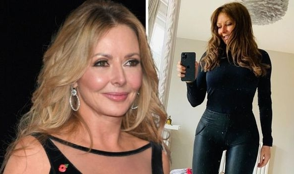 Carol Vorderman: Countdown star stuns in skin-tight trousers as she shows off her curves (Picture)