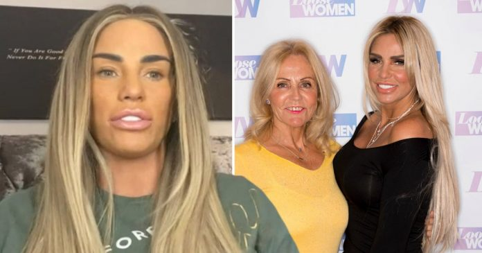 Katie Price shares heartache over seeing terminally ill mum Amy struggling to breathe (Photo)