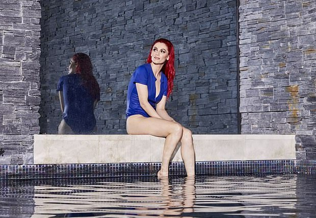 Picture: Strictly's Dianne Buswell poses in a blue swimsuit for radiant shoot