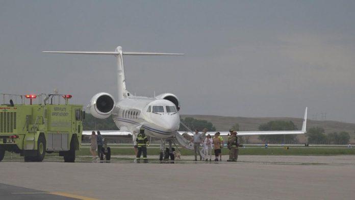 Private jet prepares for emergency landing