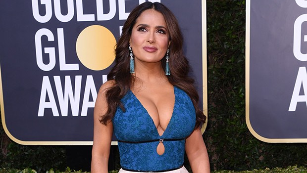 Salma Hayek teases fans to see her slinky dress in full (photos)