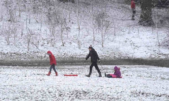 Storm Darcy brings heavy snow in -13C Arctic freeze