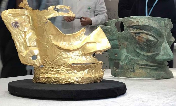 Sanxingdui: Archaeologists discover 3,000-year-old gold mask in Sichuan, China (Study)